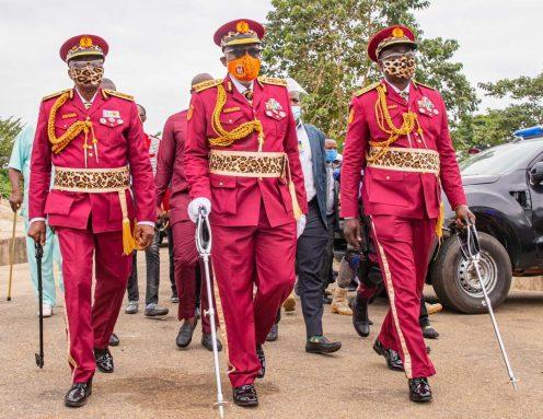 Governor RotimiAkeredolu inaugurates 'Amotekun' in Ondo [PHOTO CREDIT: Twitter @RotimiAkeredolu
