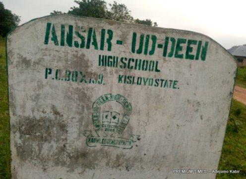 Ansarudeen School signpost