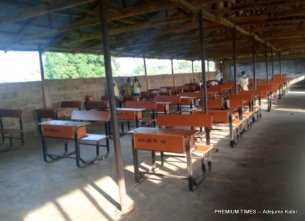 Examination hall in Adasobo Grammer Sch