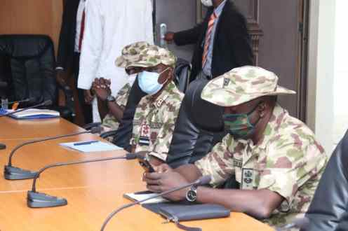 Gombe State Governor presents title documents for 230 hectares of land donated to Nigerian Airforce. PHOTO CREDIT: Gombe State Government Media Office