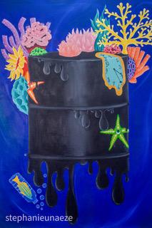 Crude Reality, 2020. Acrylic on Canvas, 122 x 91 cm