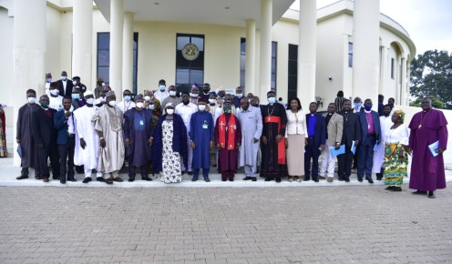 Group photograph of Kaduna State Government and CAN officials after a meeting hosted by Governor Malam Nasir El- Rufai and Revd. Supo Ayokunle. KDSG Media