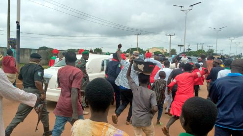 Large crowd welcomes ex-Kano emir Sanusi to Kaduna