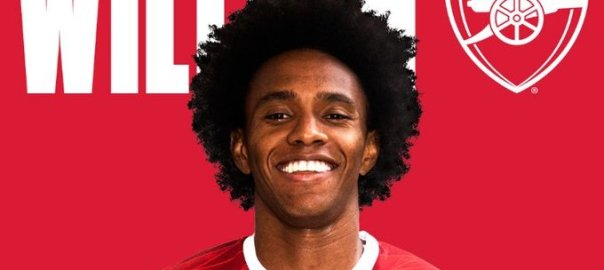 New Arsenal signing and Brazilian international, Willian. [PHOTO CREDIT: Official Twitter handle of Arsenal]