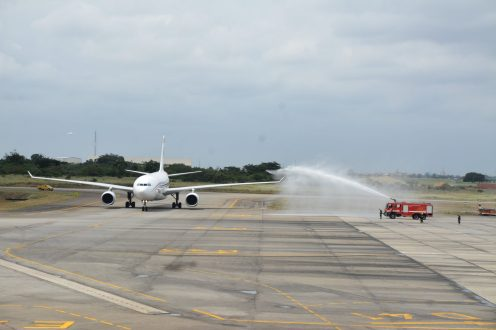 Murtala Muhammed International Airport, Lagos comes alive. (PHOTO CREDIT: @NigerianCAA)