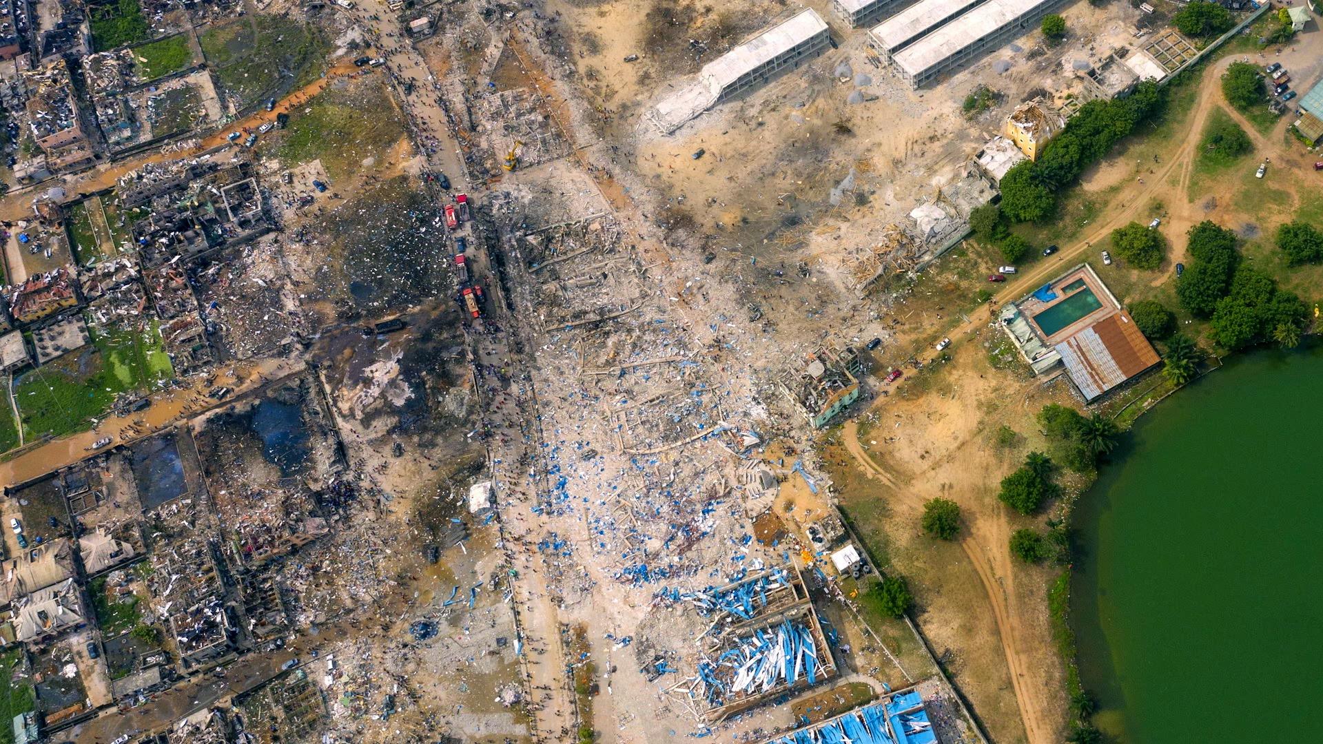Africa eye-Drone shot of school