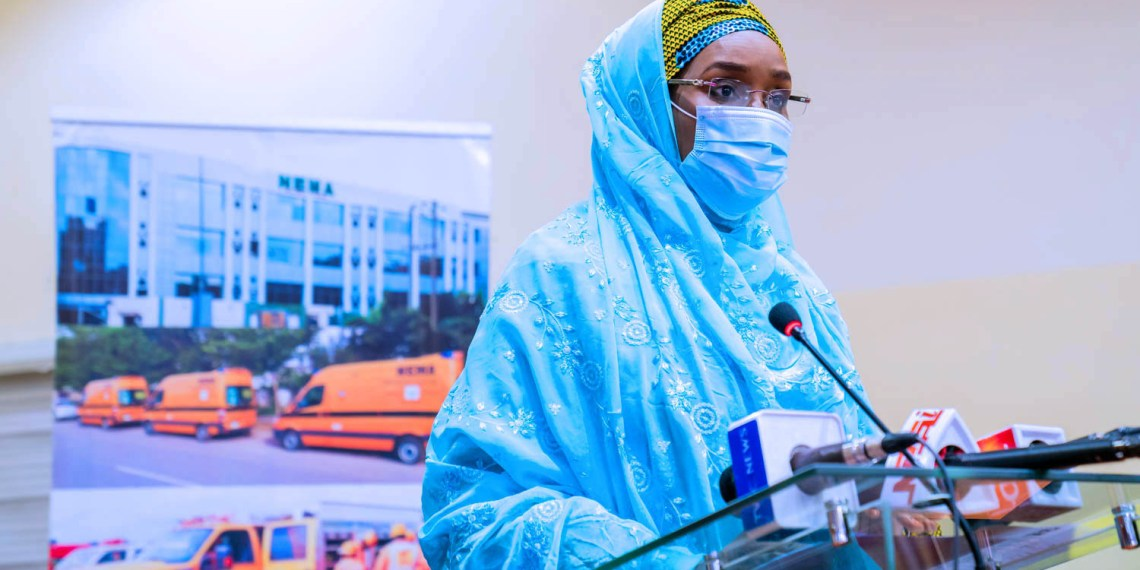 Sadiya Farouq; Minister of Humanitarian Affairs, Disaster Management and Social Development [PHOTO CREDIT: @FMHDSD]