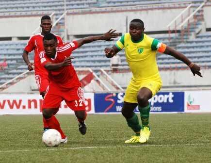 Elisha Golbe in action agianst Enugu Rangers Credit Rangers Media