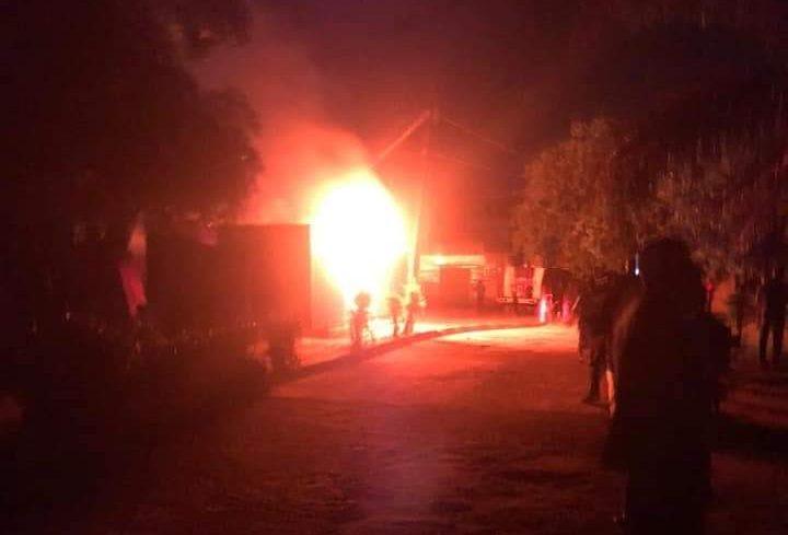 Akure INEC office in flames