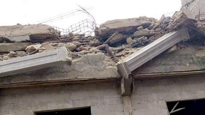 A three-storey building under construction along Azikiwe Road, in the commercial city of Aba, Abia State, collapsed.