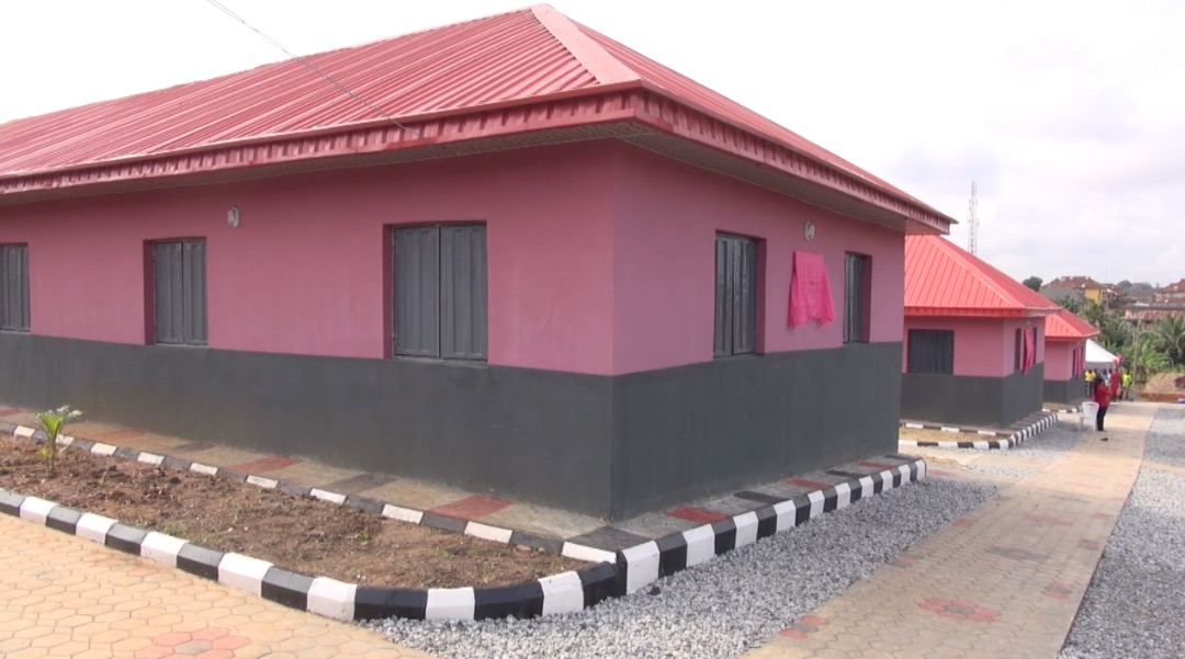 One of the classroom blocks donated by Mr Deji Bademosi