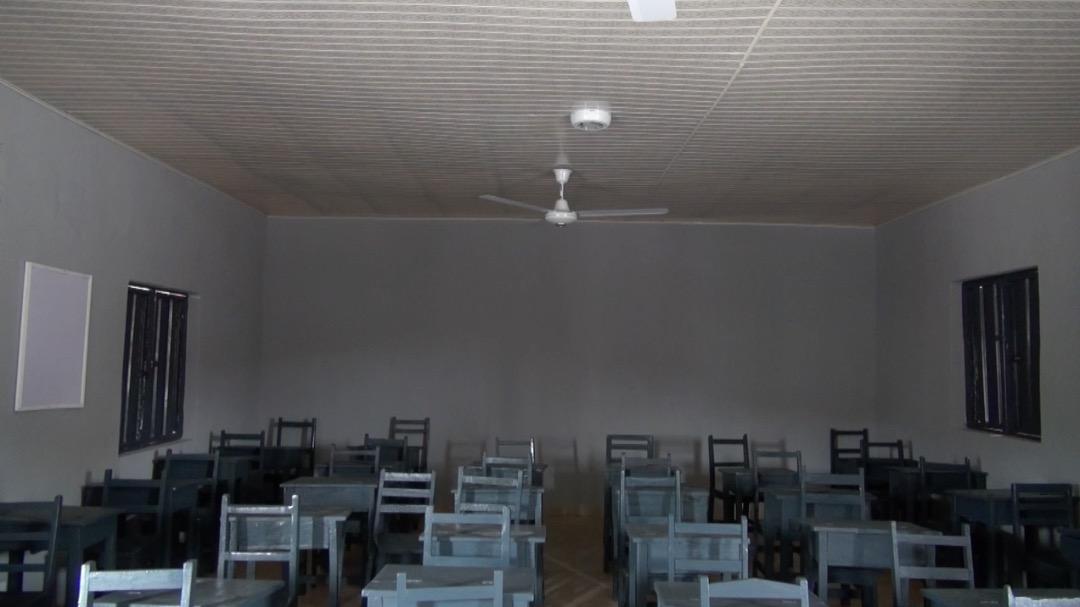 Inside one of the classroom donated by Mr Deji Bademosi