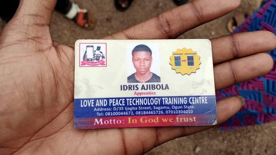 Idris Aluminium ID card