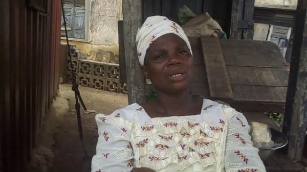 Mrs Ogundele, woman in charge of Yemetu borehole project