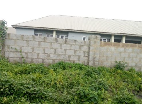 Newly constructed fence around the primary healthcare centre, Ibadan North