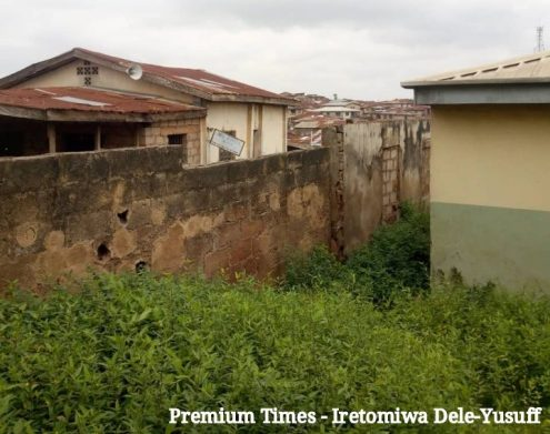 Old fence, Christ Apostolic Church primary school, Oke Apon