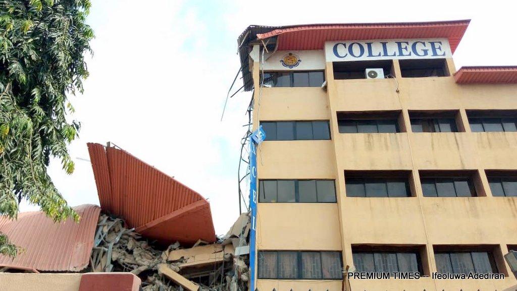 School Building collapse in Lagos
