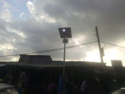 Solar street light at Labaowo market, Ogunpa