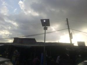 Solar street light at Labaowo market, Ogunpa
