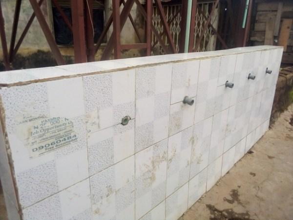 Tap of non-functioning solar powered borehole at Yemetu in Ibadan