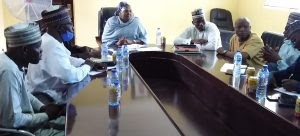 The Chairperson of Borno SEMA with delegation from Federal Ministry of Women Affairs