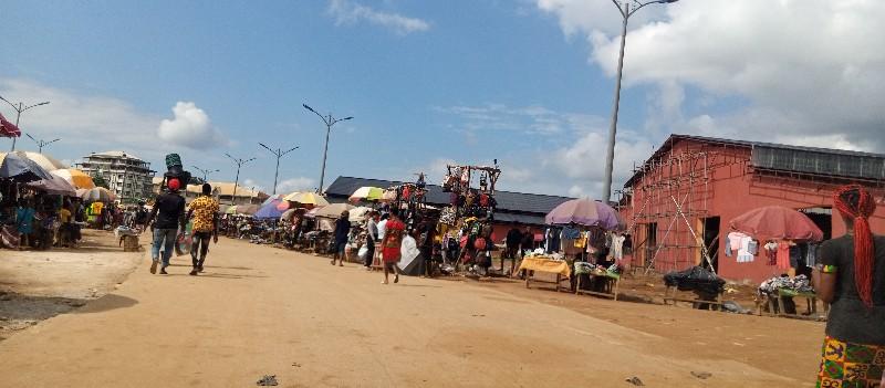 Business in full swing at the Abakaliki International Market.