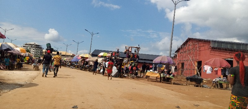 Business in full swing at the Abakaliki International Market.