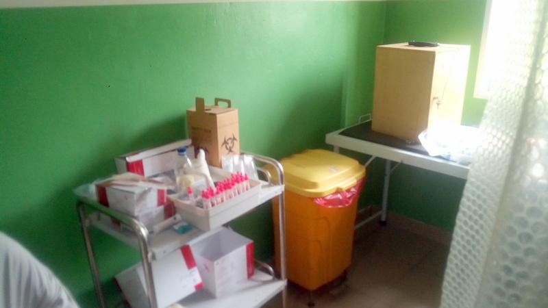 Blood samples in bleeding room