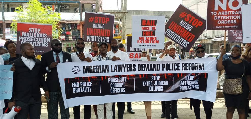 #EndSars: Lagos lawyers protest