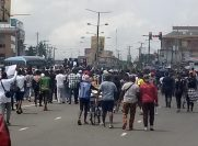 Protesters block Allen junction in Lagos