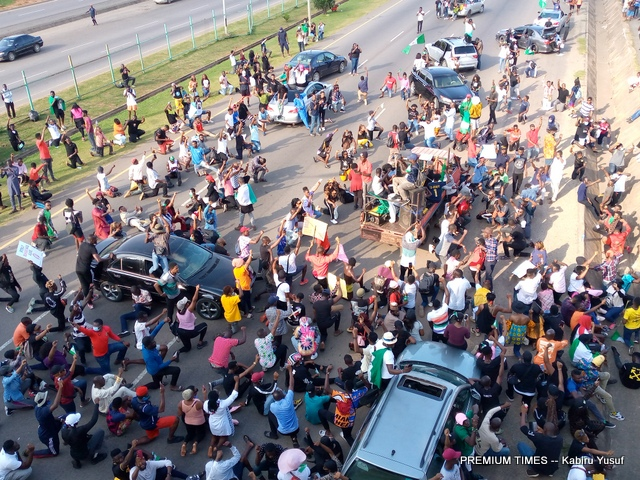 #ENDSARS Protests continue in Abuja