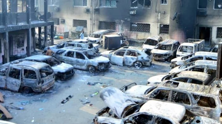 Ajeromi Ifelodun Local government burnt