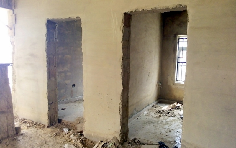 Interior of uncompleted glaucoma centre