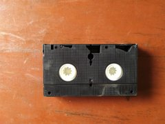 Home video cassette, into which a film is encased for storage (Credit: Twitter, @Bodasheeee).