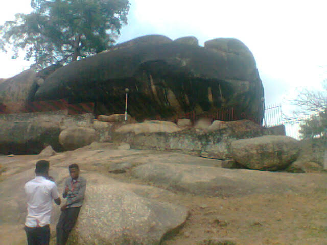 "Olumo rock in Abeokuta, meaning ""under the rock"" (Credit: Yusuf Akinpelu)."