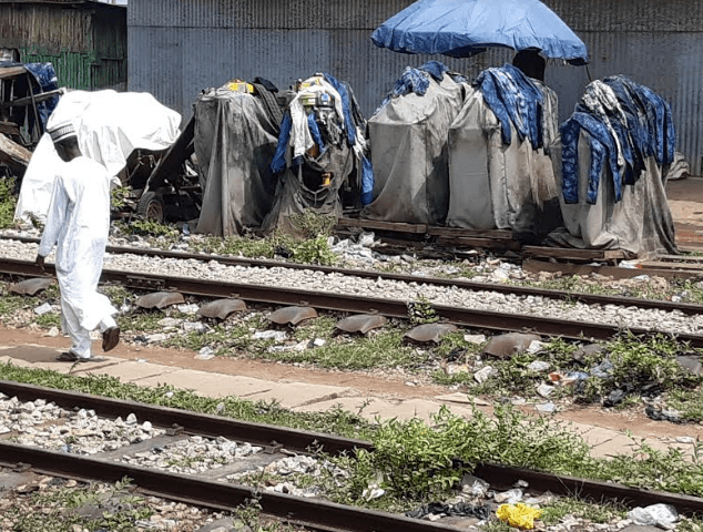 Equipment belonging to CGGC abandoned at the Lafia station.
