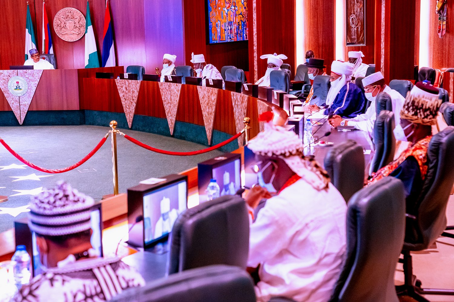 #EndSARS: Buhari meets traditional rulers, restates commitment to police reform