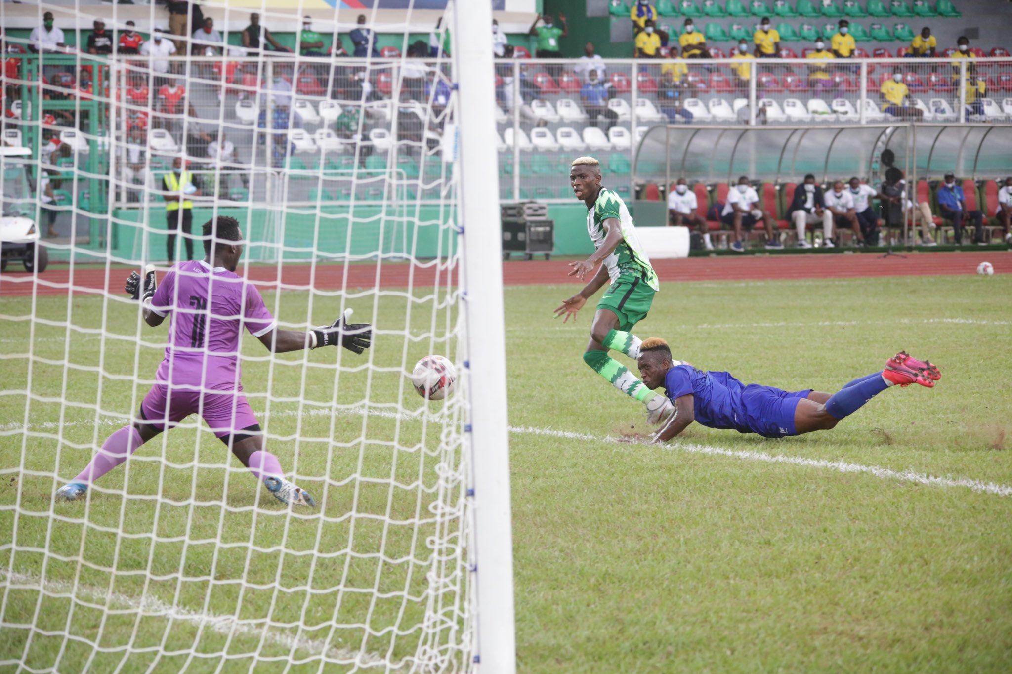 Nigeria VS Sierra Leone [PHOTO: @NGSuperEagles]