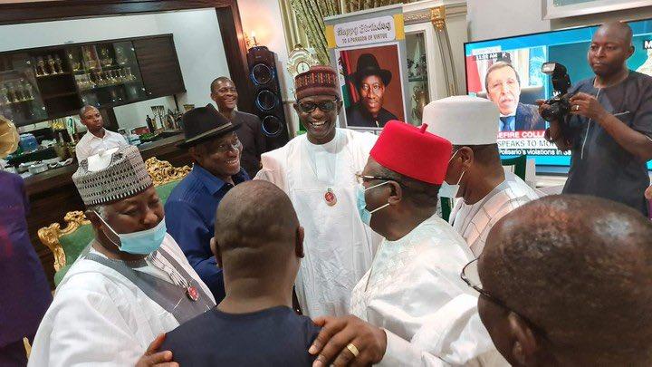 APC Governors' Visit To Jonathan [PHOTO CREDIT: @OfficialPDPNig]
