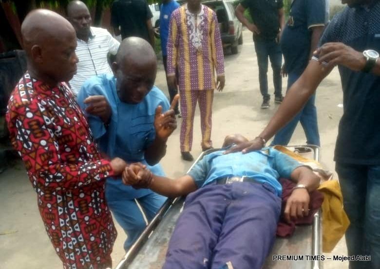 Late Gospel Gbaraka's body at the UPTH.