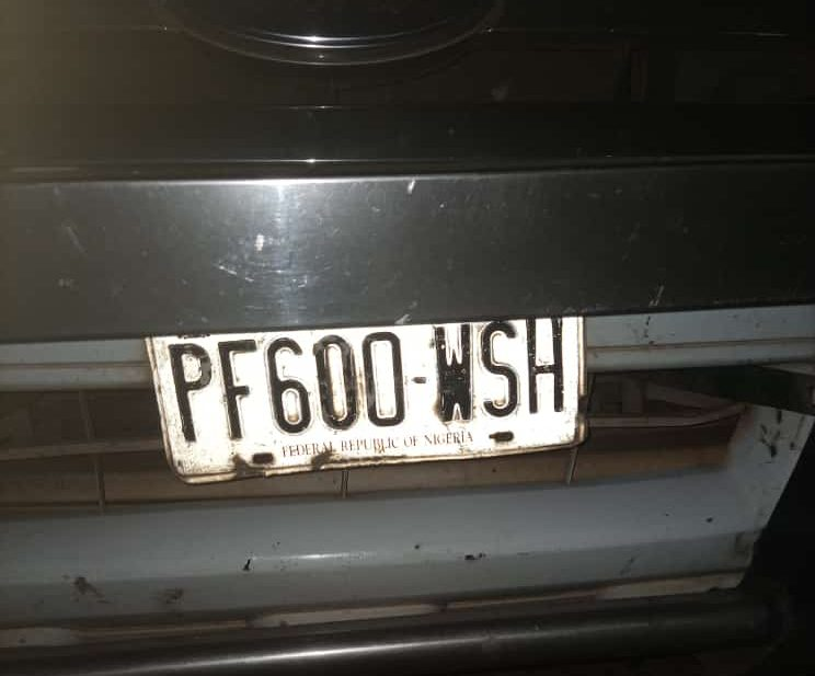 police vehicle number plate