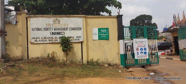 Entrance of NIMC office Alausa, Ikeja Lagos