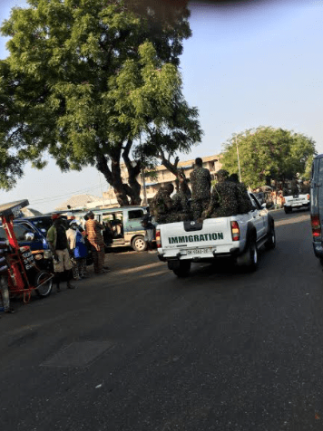 Ghana Immigration embarked on a show of force on Sunday morning