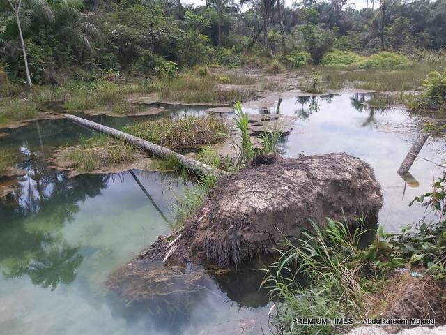 Destroyed farmland of Asi Emmanson