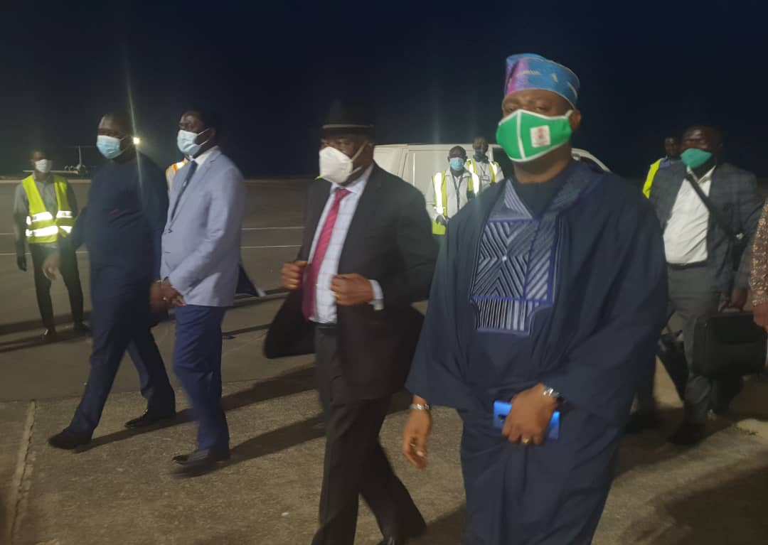 Goodluck Jonathan in Banjul to support the ongoing constitutional review efforts in The Gambia [PHOTO CREDIT: @GEJonathan]