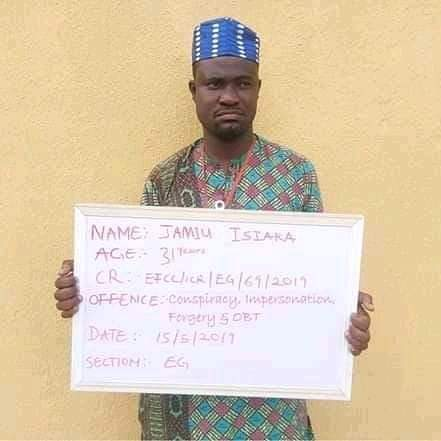 Jamiu Isiaka is being tried for fraud by the EFCC