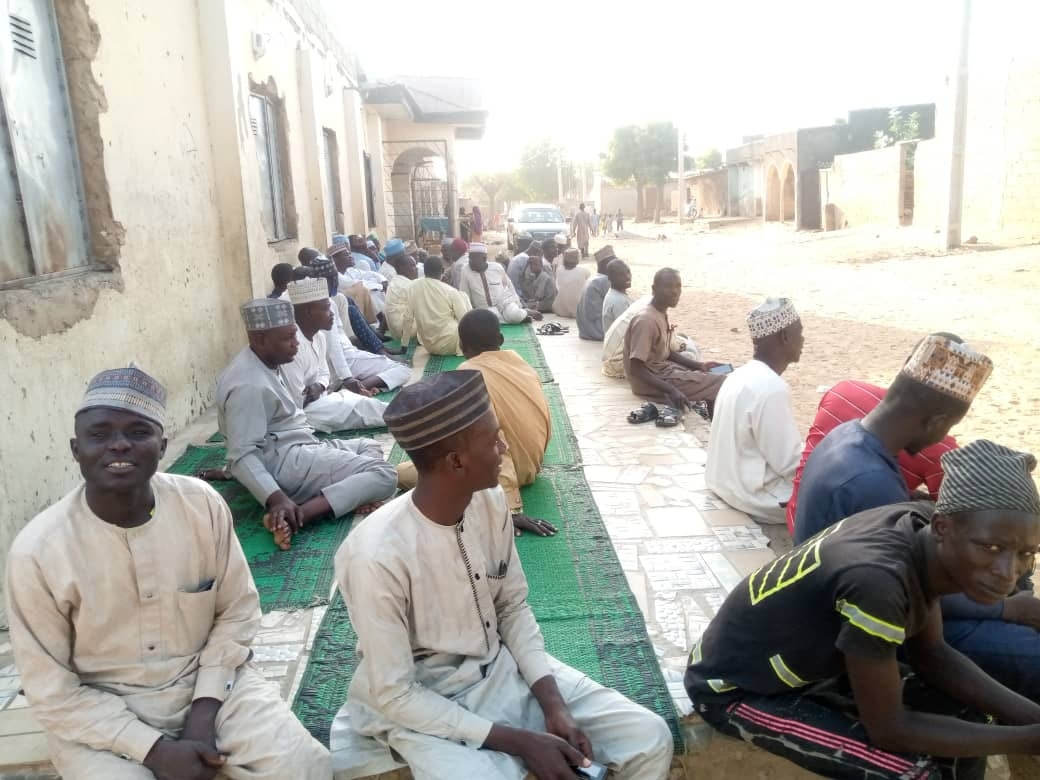 Residents at condolence greetings to the deceased at Rumka Community in Safana L.G.A
