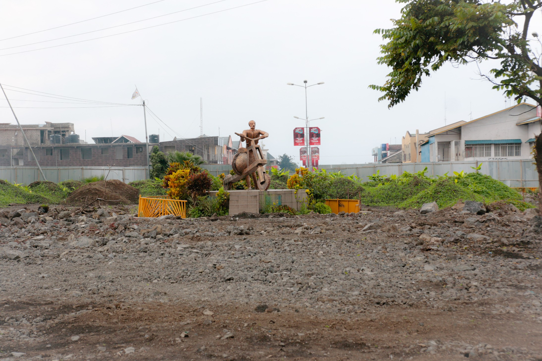 Statute of the tshukudu in Goma, as symbol of Goma's resilience, its men power