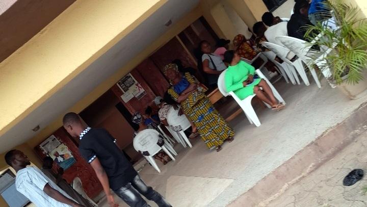 Stranded enrollees at Enu owa, Ile Ife
