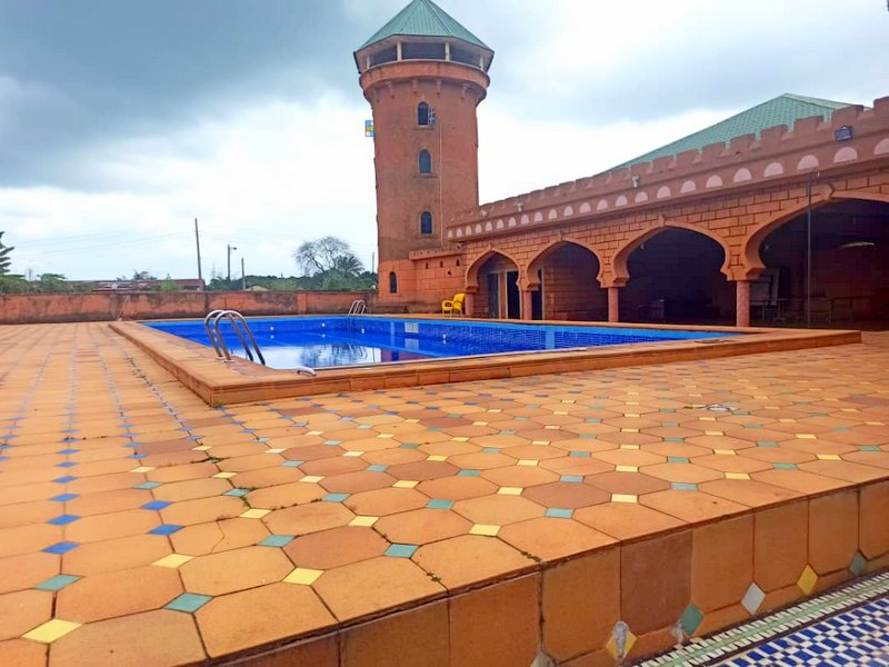 Swimming pool sited on the 33 hectares allocated